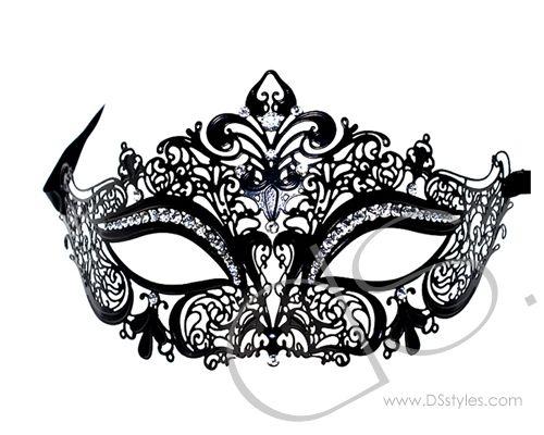 Halloween Masquerade Swan Filigree Laser Cut Bling Crystal Mask -Black               http://www.dsstyles.com/product/halloween-masquerade-swan-filigree-laser-cut-bling-crystal-mask--black