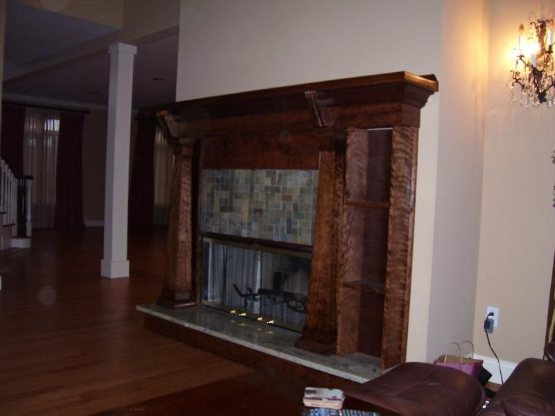 Cherry Wood Fireplace Surround With Granite Google Search Wood