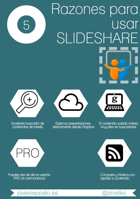 5 Razones para usar Slideshare #infografia #infographic #Slideshare
