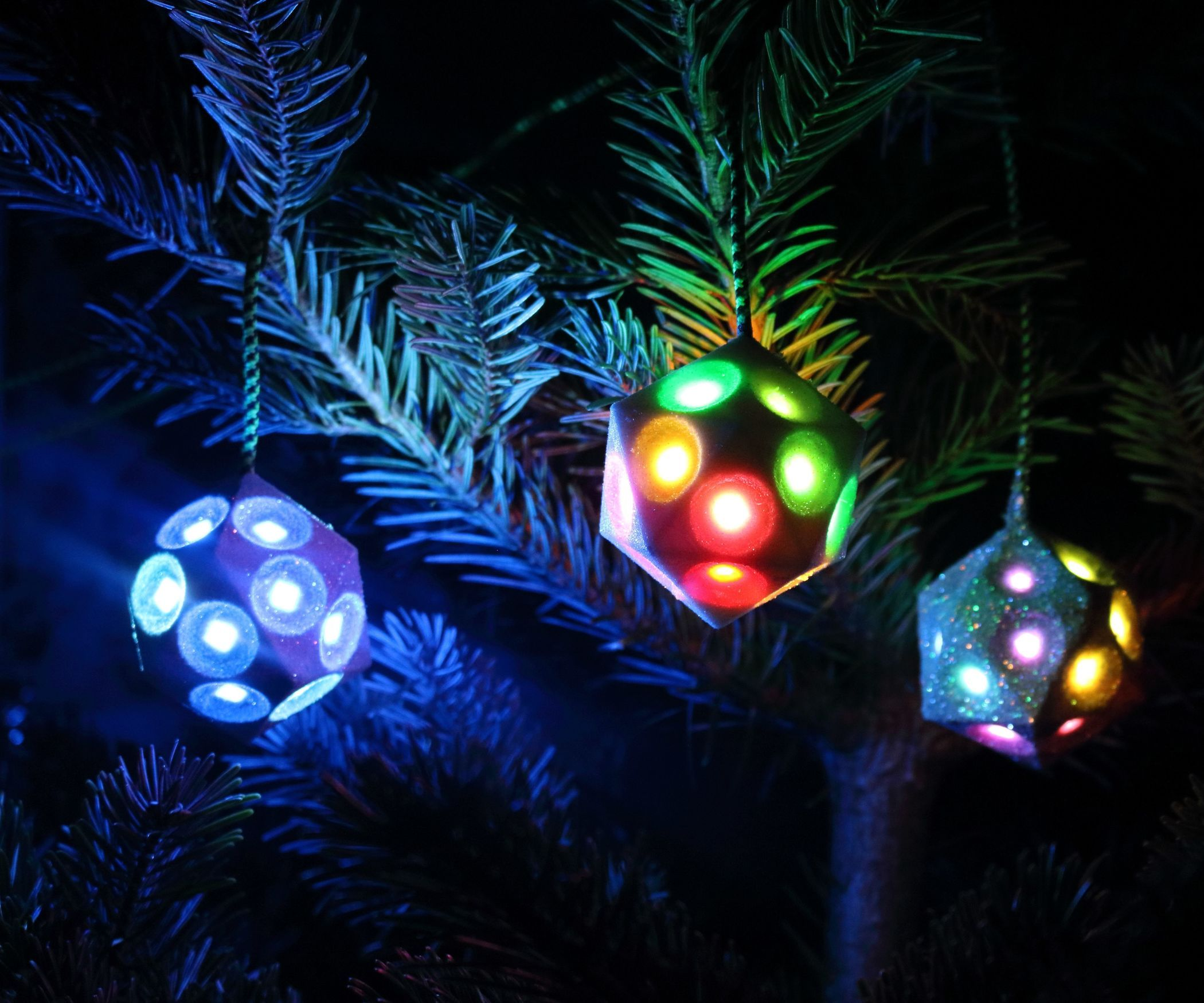 Illuminated Christmas Tree Ornament Wifi Controlled Christmas Tree Ornaments Christmas Ornaments To Make Christmas Ornaments