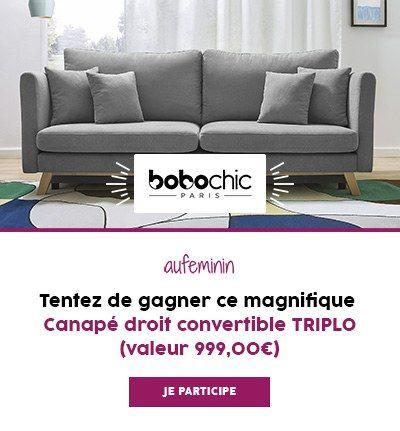 Fin du jeu concours : bobochic gagnez 1 canapé TRIPLO #soupedetoxminceur