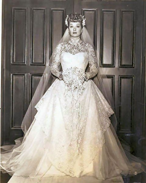 Lucille Ball Wedding Dress 1940 Jpg