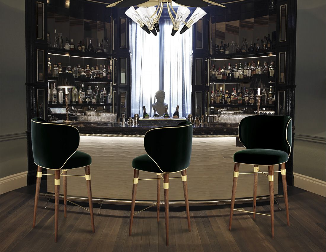 Louis Mid Century Bar Chair By Hotel Interior Design