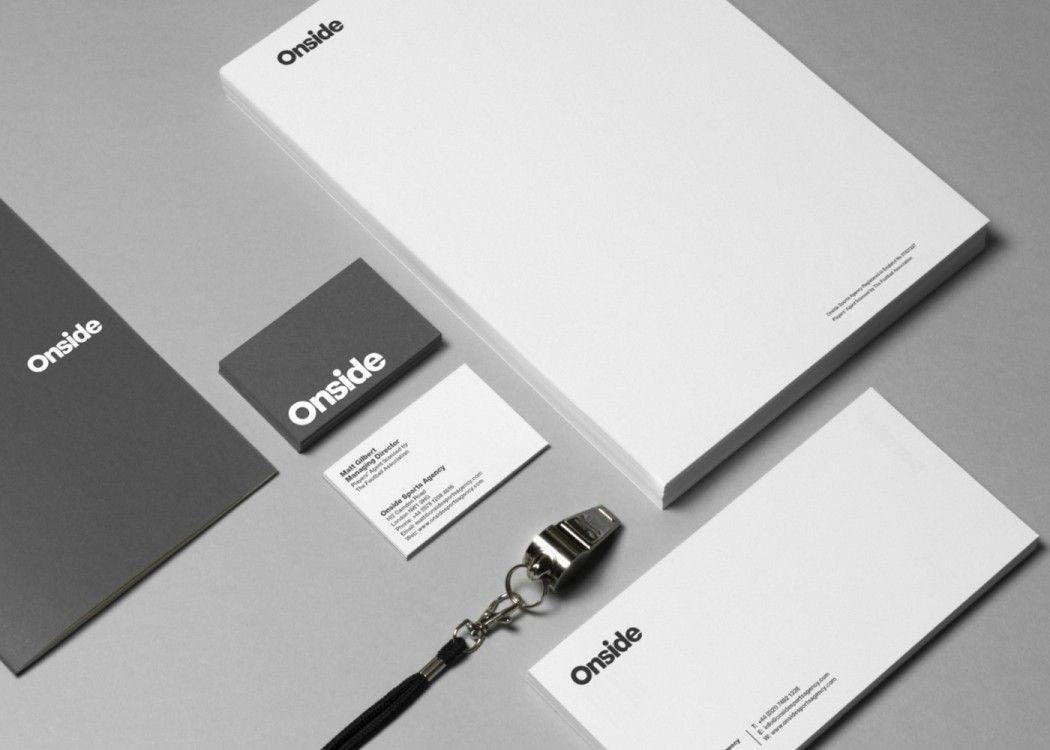 Onside Sports Agency. Layout, typography, Helvetica Bold, logo ...