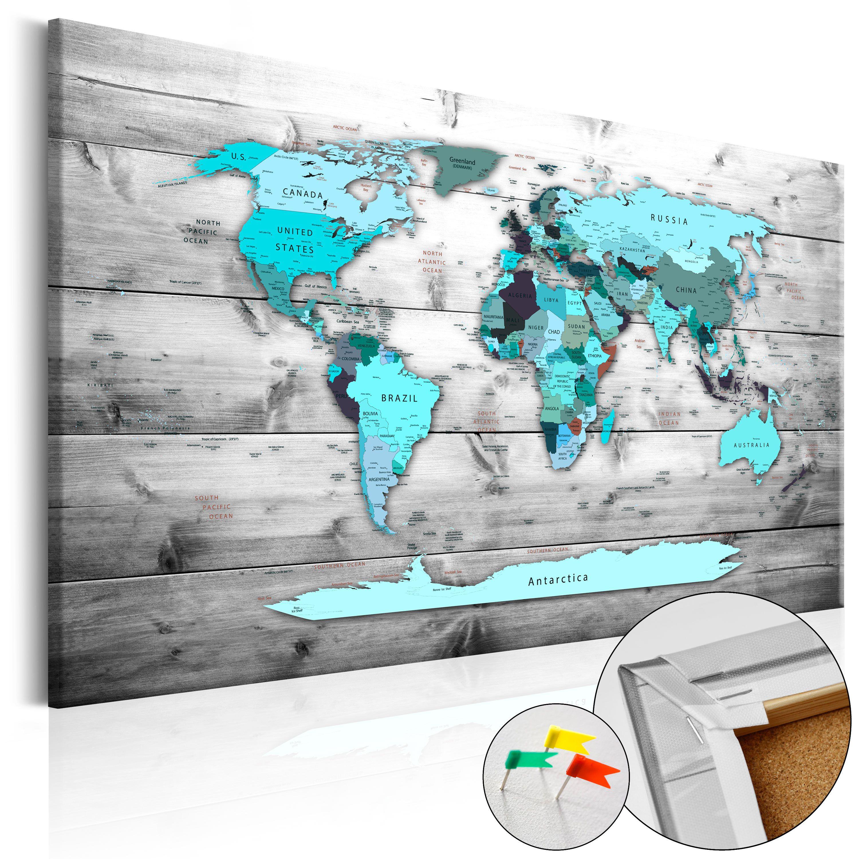 Pinnwand Weltkarte Wandbilder Landkarte Leinwand Bilder Xxl Kork K B 0009 P B Weltkarte Leinwand Weltkarte Bilder