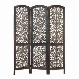 Woodland Imports 3-Panel Folding Indoor Privacy Screen ...