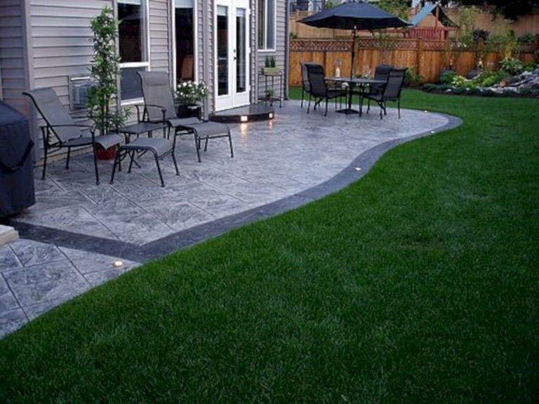 35 Magnificent Patio Design Ideas In Your Garden Stone Patio Designs Patio Design Concrete Patio Designs
