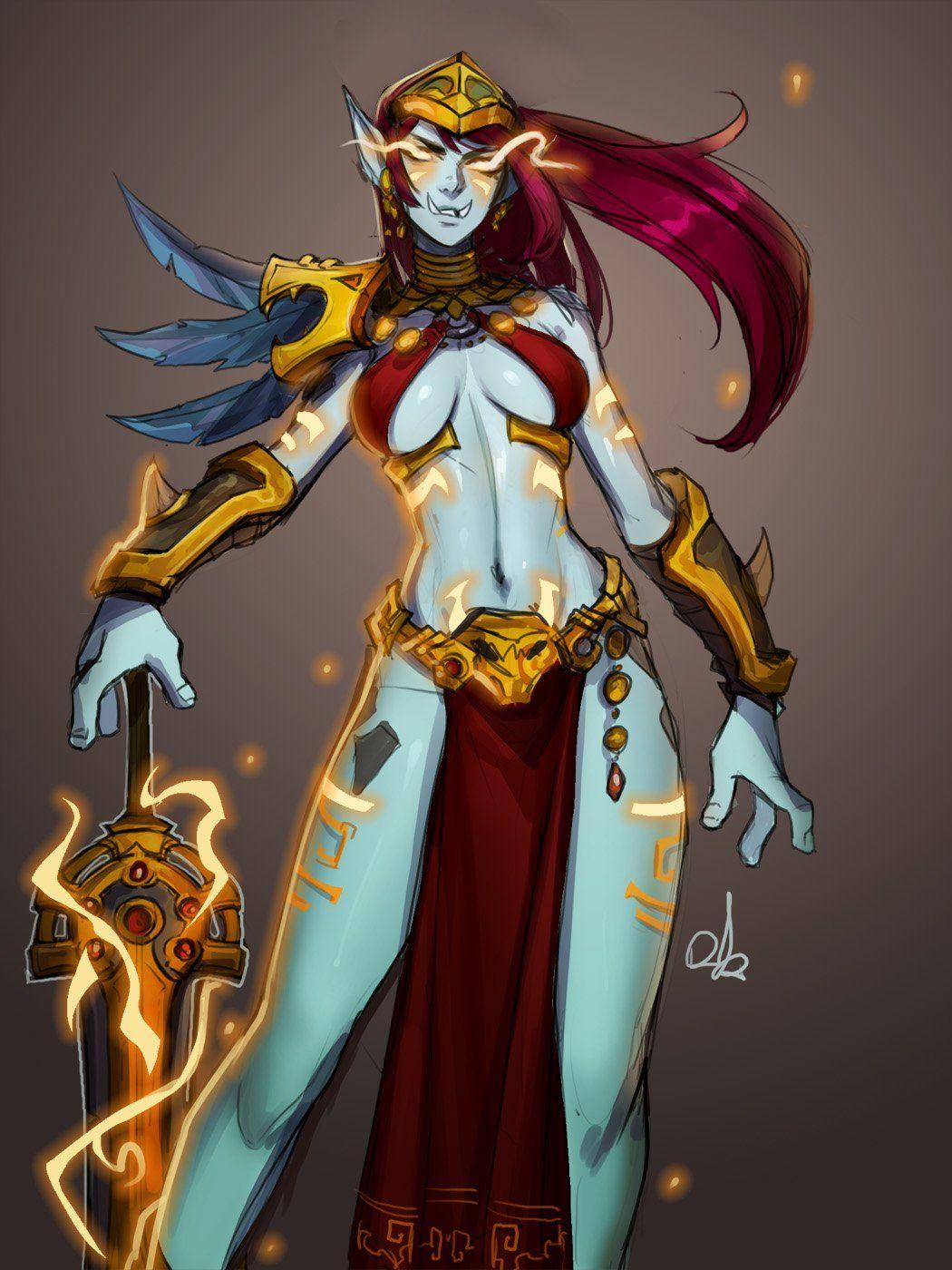 Zandalari Paladin by Distr Art | Warcraft characters
