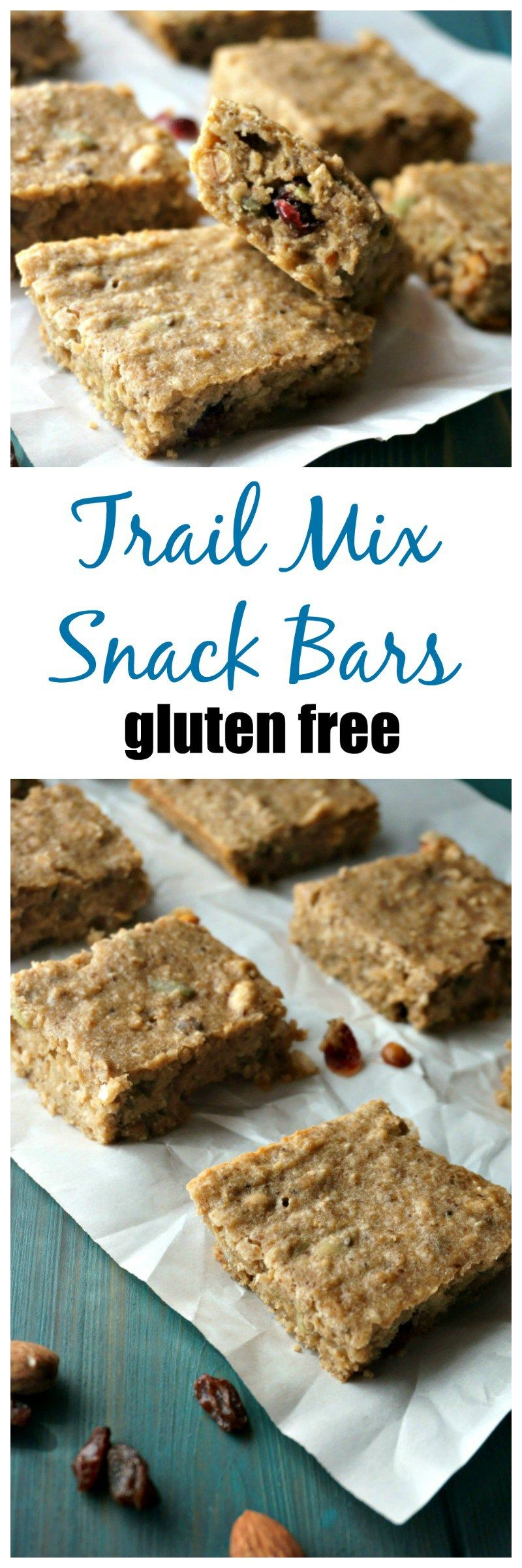 Trail Mix Bars A healthy and hearty DIY snack bar that is filled with nuts, dried cranberries, seeds and a whole lot of protein! These gems are also gluten-free, dairy-free, and easy to make! I fil…