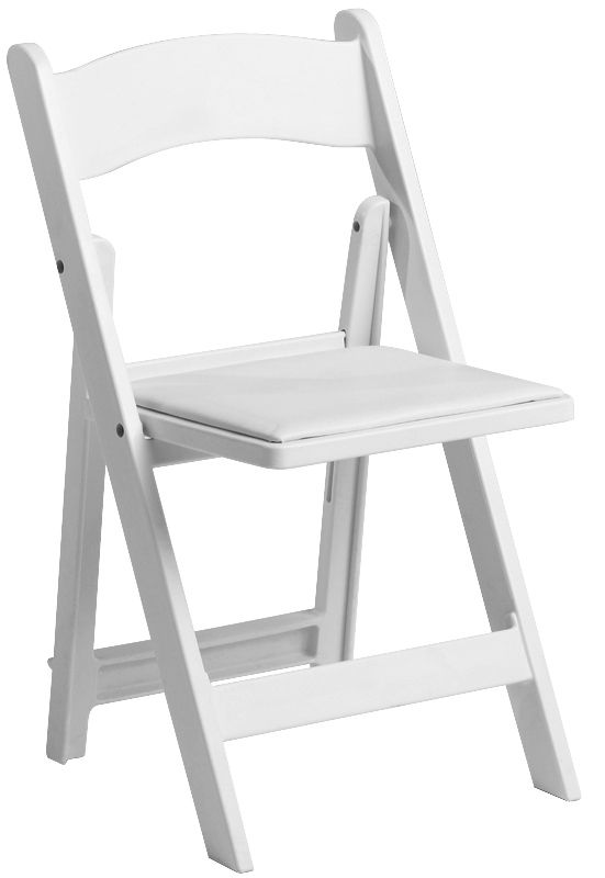 1000 Lb Max White Resin Folding Chair Wood Folding Chair