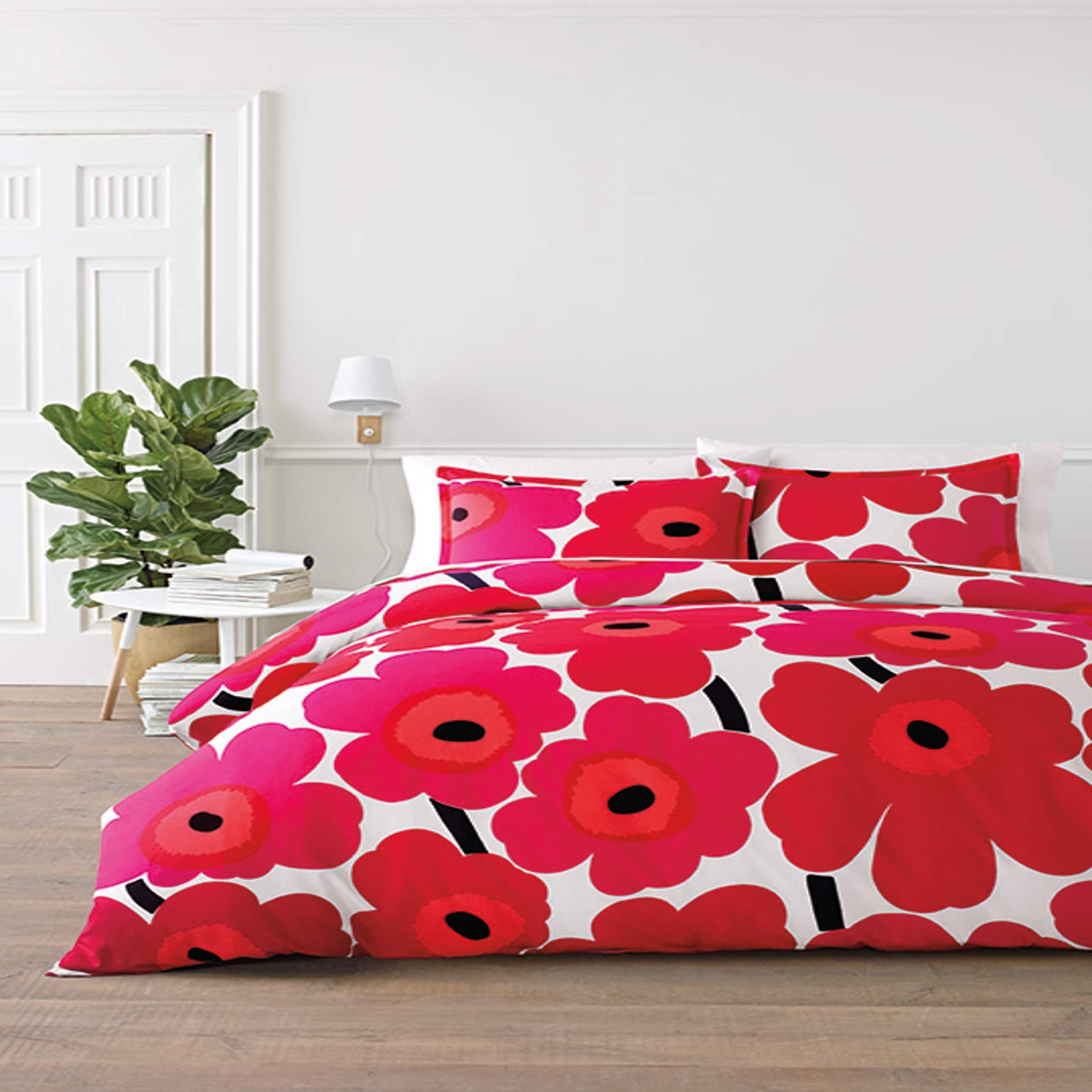 Buy Marimekko Unikko Duvet Cover Red