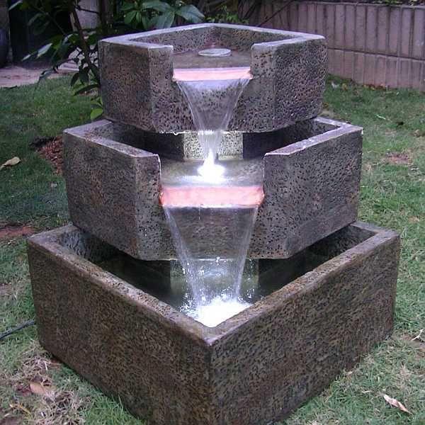 Deals For Smart Garden Cascadia Falls Corner Step LED Fountain