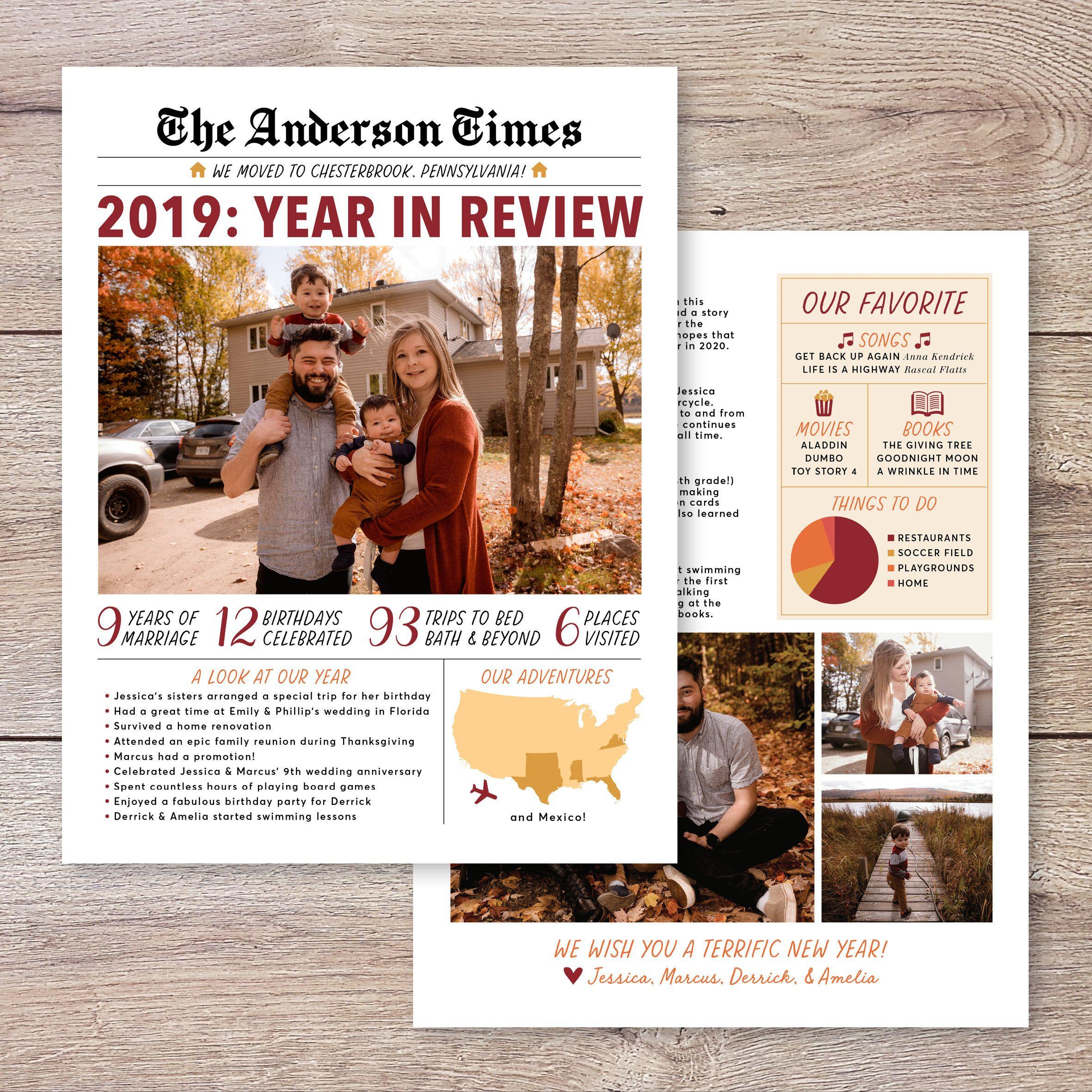 Christmas Letter Christmas Newsletter Christmas Newspaper Year