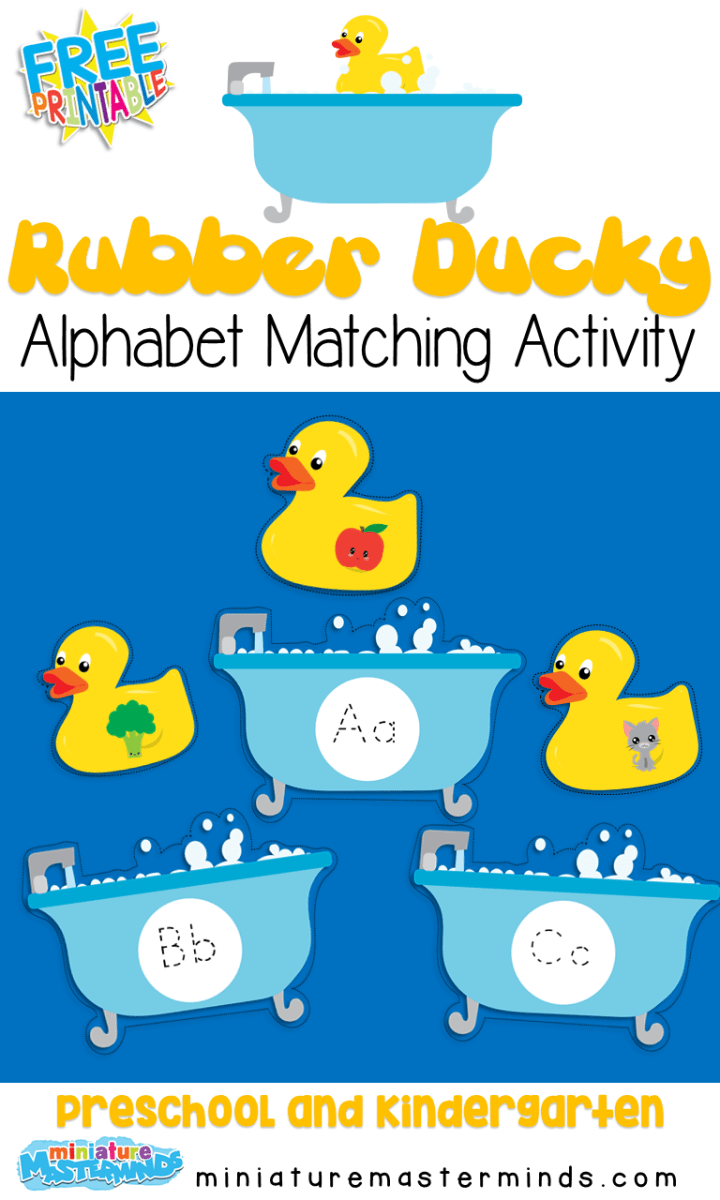 Rubber Ducky Alphabet Beginning Sound Matching Preschool And Kindergarten Activity Kindergarten Activities Alphabet Preschool Preschool