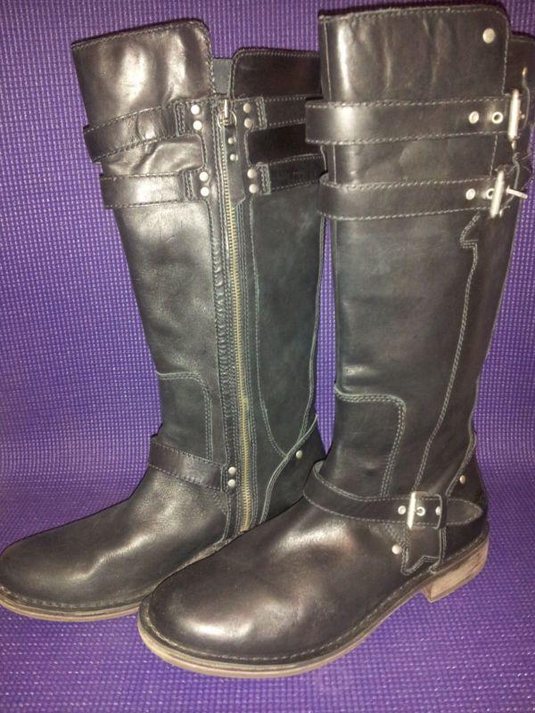b5bb831d166 UGG Aus Gillespie Womens Black Leather Boots1001999 Ret $350 US 10 ...