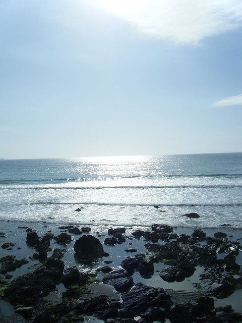 Tregardock - tried to make the shore straight and now the horizon is wonky instead! by Fenifur, via Flickr