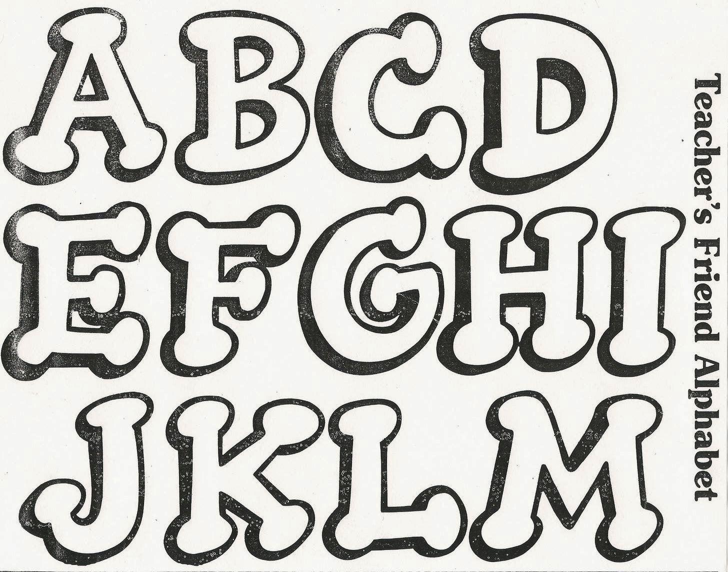 Abifomy Manualidades y Detalles: MOLDES DE LETRAS | alfabeto ...
