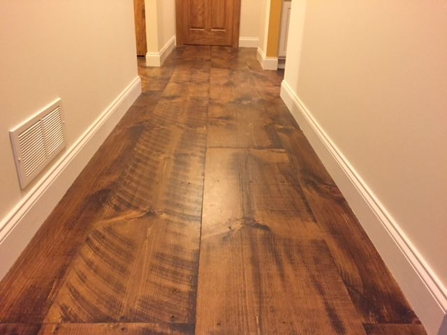 Wide Plank Pine With Circular Saw Marks And Skip Planing Looks Like It S Been There For Generati Pine Wood Flooring Plank Flooring Wood Floors Wide Plank