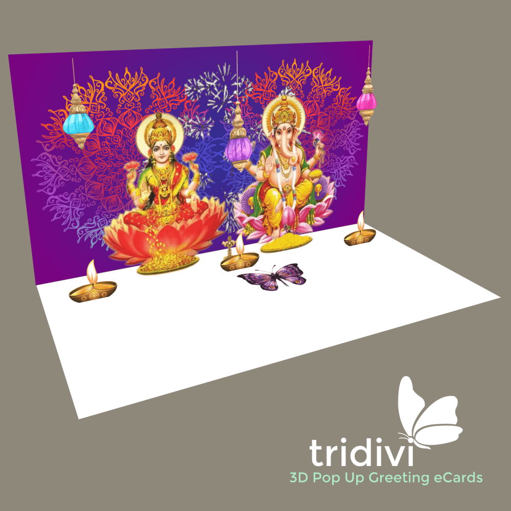 Pin By Tridivi On Animated 3d Pop Up Ecards Diwali Cards Cards