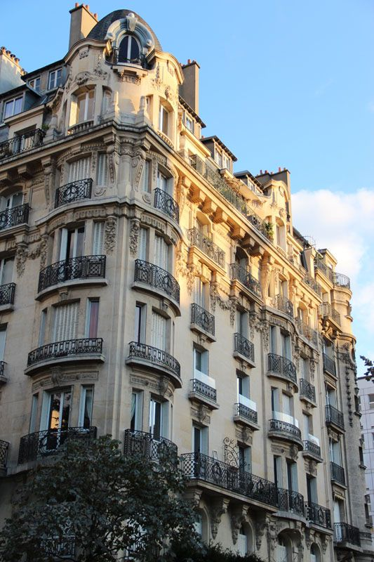 haussmanian building in paris exterior the rounded corners the