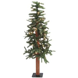 4 Green Alpine Christmas Tree With Lights Shop Hobby Lobby