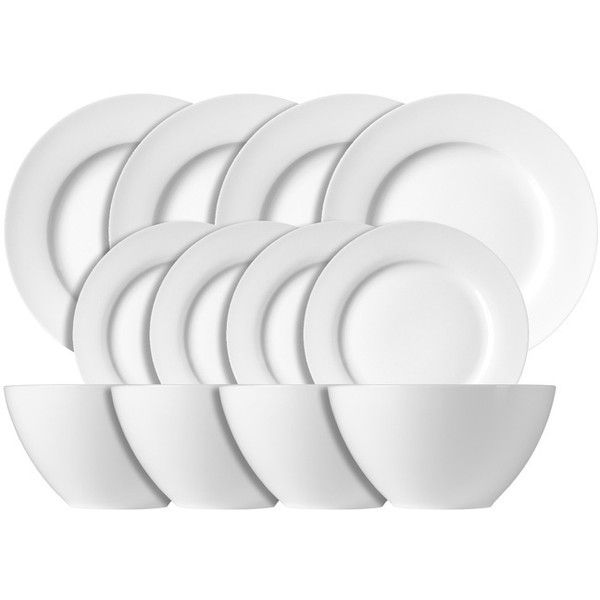 Luigi Bormioli White Dinnerware 12-piece Set ($60) ? liked on Polyvore featuring  sc 1 st  Pinterest & Luigi Bormioli White Dinnerware 12-piece Set ($60) ? liked on ...