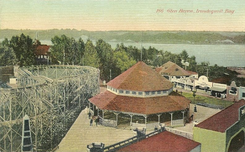 """Glen Haven, Irondequoit Bay  Dated: between 1907 and 1915. Glen Haven Amusment Park, was located on the West shore of Irondequoit Bay, Rochester, New York. The park was called """"Dreamland"""" for a period of time."""