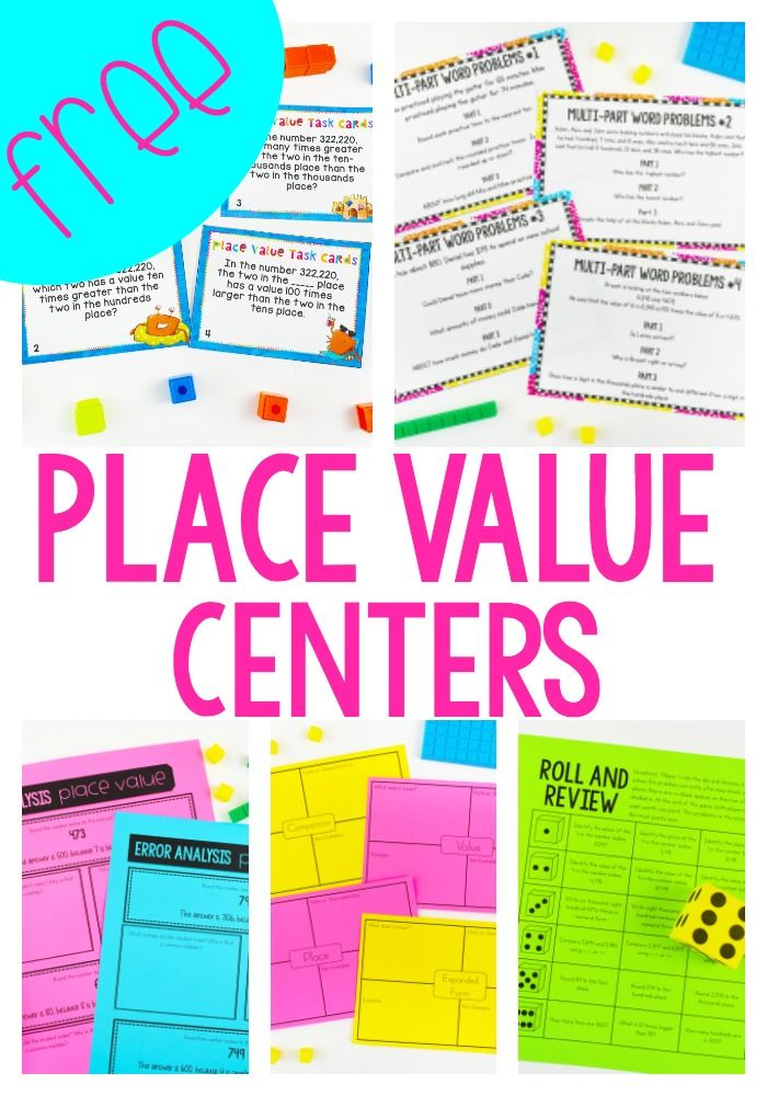 3rd Grade Place Value Centers - Ashleigh's Education Journey
