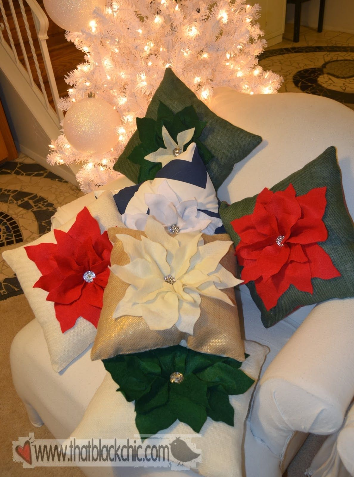 Diy Hi Jack Poinsettia Pillow By Pottery Barn Diy