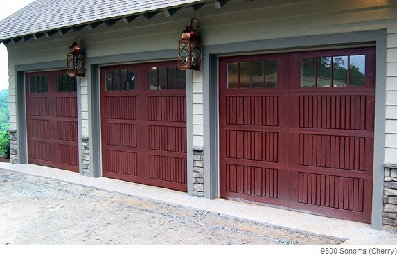 Cherry Sonoma Fiberglass Door Garage Doors Wood Garage Doors Garage Door Design