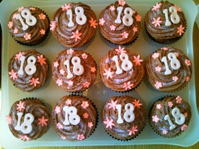 18th Birthday Cupcakes Sweet Things Birthday Cupcakes