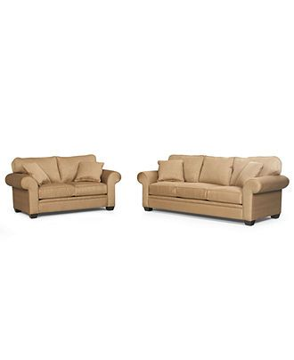 Raja Fabric Living Room Furniture 2 Piece Set Queen Sleeper Sofa Bed And Loveseat