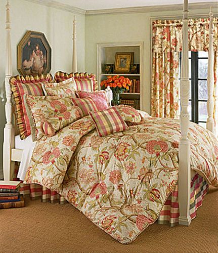 rose tree summerton bedding collection found my new bedroom look nowto find fabric to match the plaid for drapes