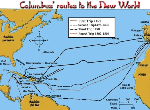 Columbus Routes He Did S Picture