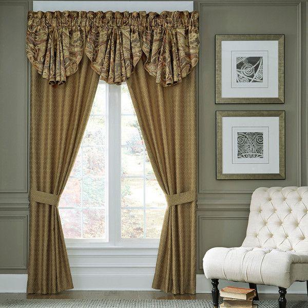 Croscill Classics Ashton Pack Curtain Panels Liked On - Classic ball fringe curtains