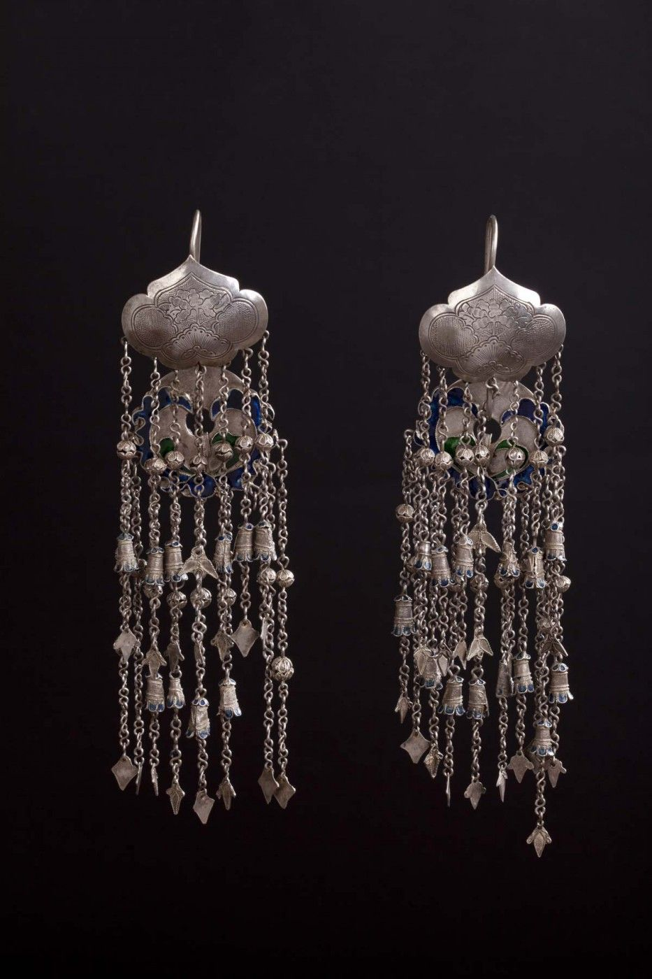 Earrings. Silver. China. Early XX century