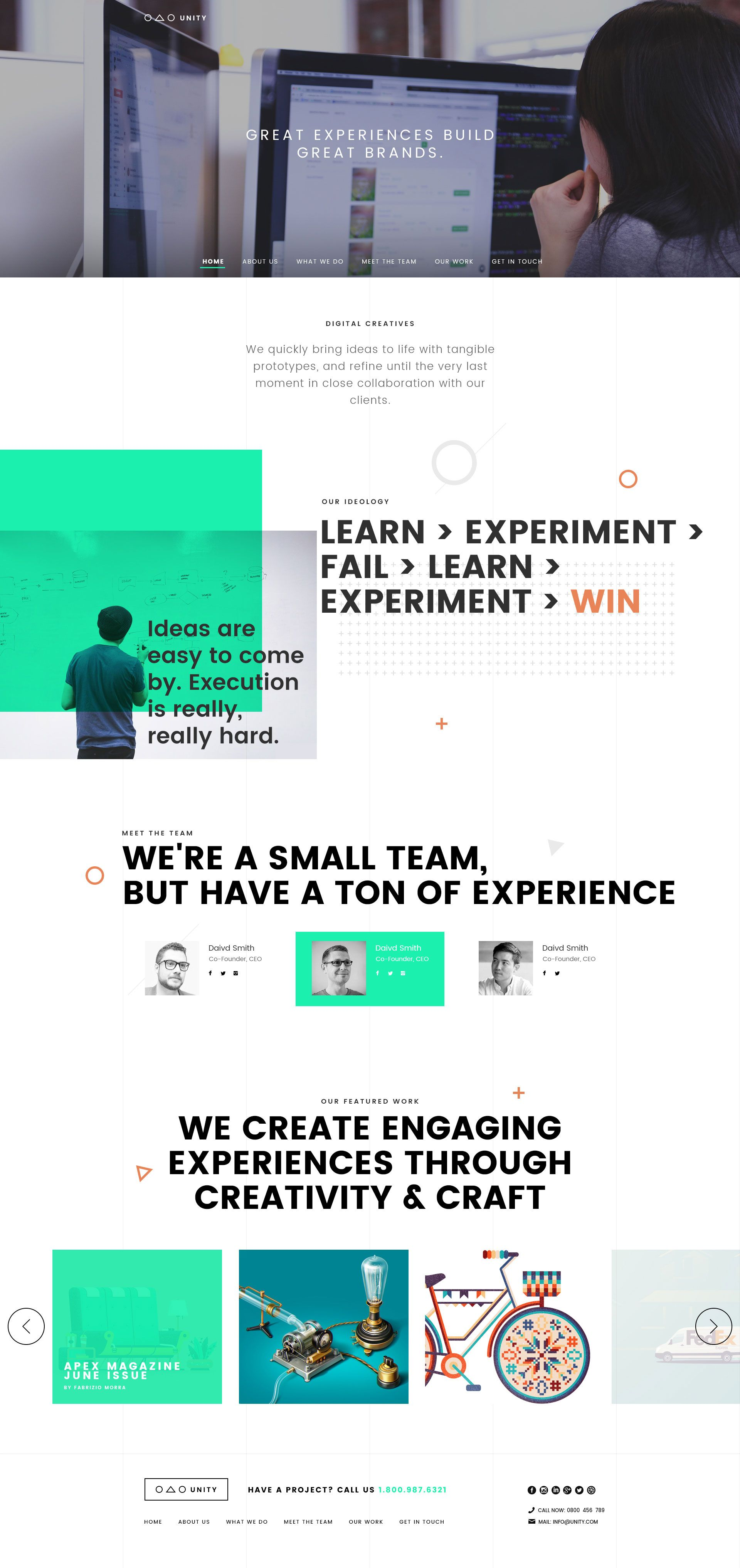 Professional Unity Agency Free PSD Template Psd template