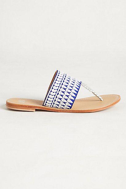 Needlework Sandals - anthropologie.com