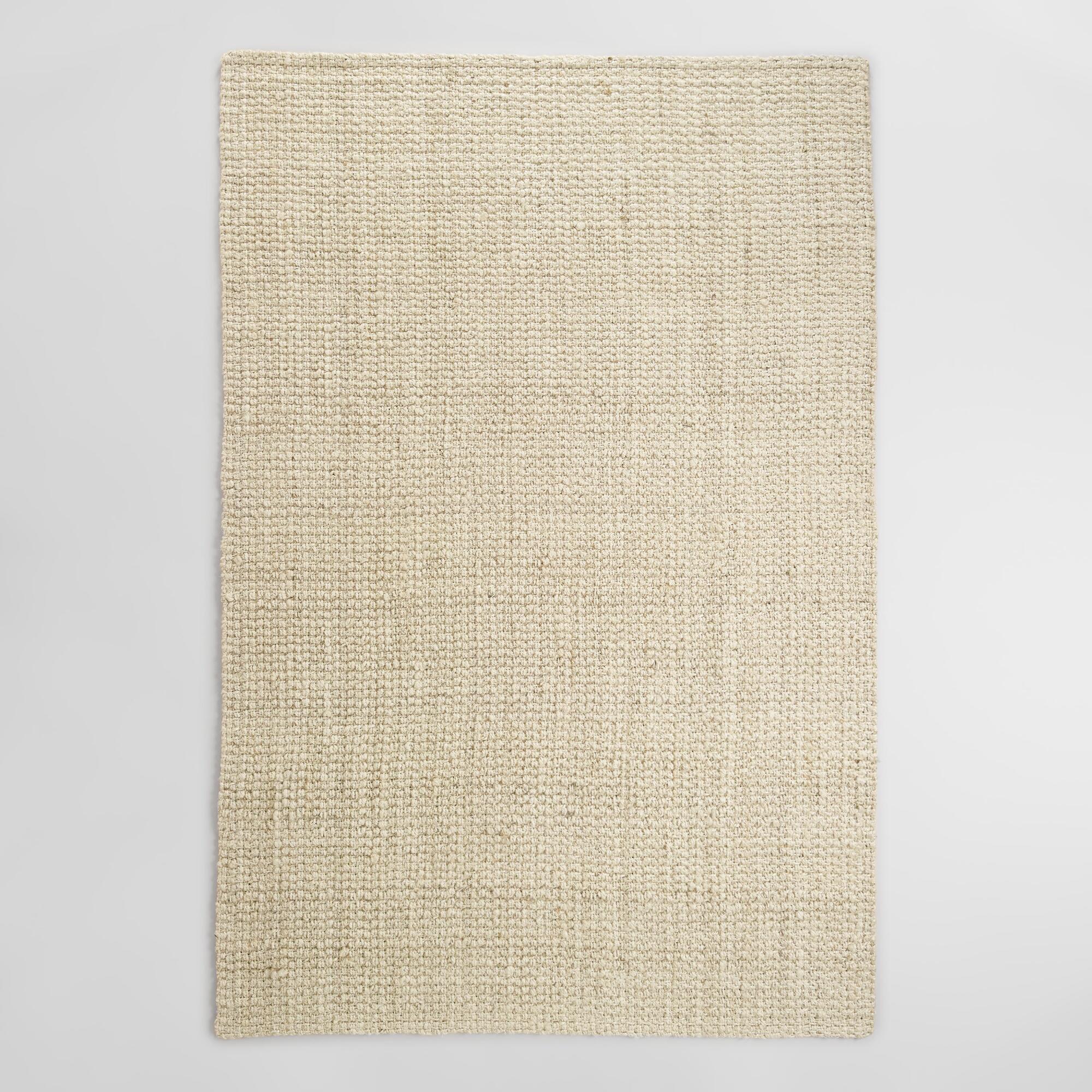 Bleached Ivory Basket Weave Jute Rug With Images Jute Rug
