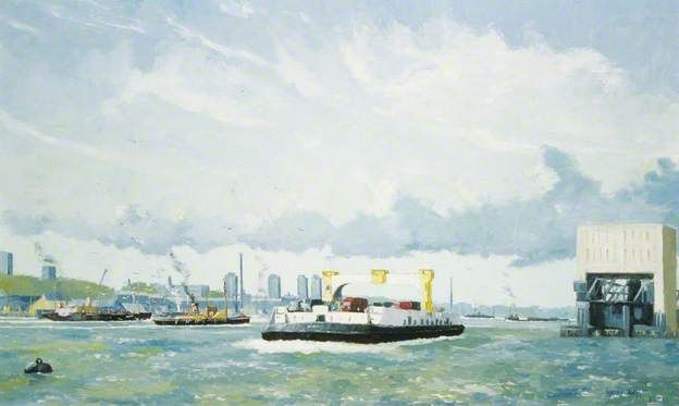 The Woolwich Ferry - painted 1971 Geoffrey Wright