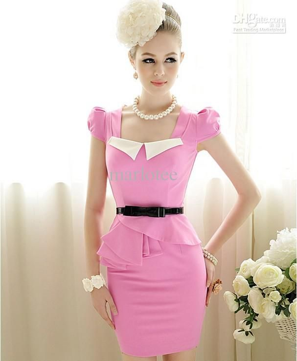 2013 Summer New Womens Nice Elegant Fashion Sweet Mini Fit Dress ...