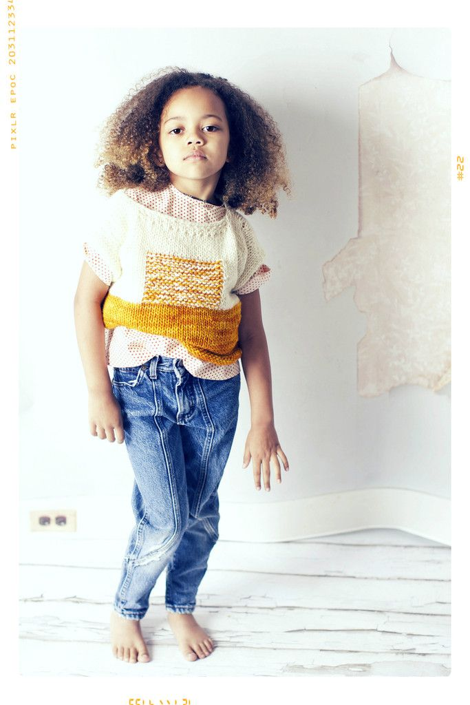 ef1467a93 The Sunrise hand knit merino wool sweater for girls in yellow and ...