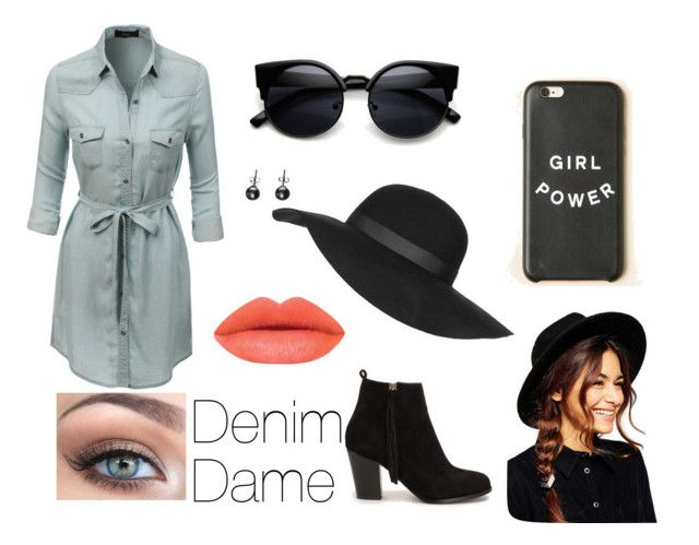 Denim Dame by musiclover4701 on Polyvore featuring polyvore, fashion, style, LE3NO, Nly Shoes, ASOS, Topshop, women's clothing, women's fashion, women, female, woman, misses and juniors