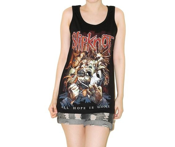Slipknot Rock Music T Shirt Tank Top Punk Shirt Size S