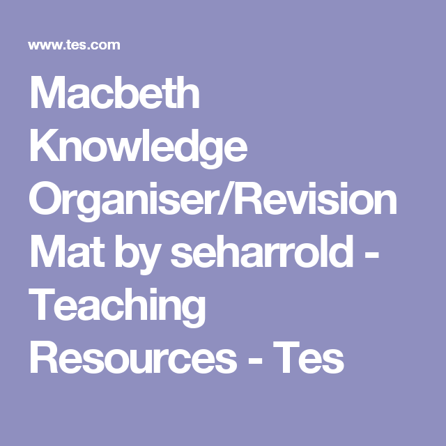 Macbeth knowledge organiserrevision mat teaching resources macbeth knowledge organiserrevision mat by seharrold teaching resources tes urtaz Image collections
