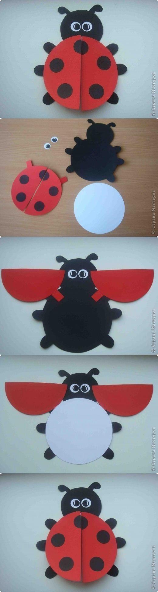 DIY Ladybug Postcard | card ideas | Pinterest | Catarina, Mariquita ...