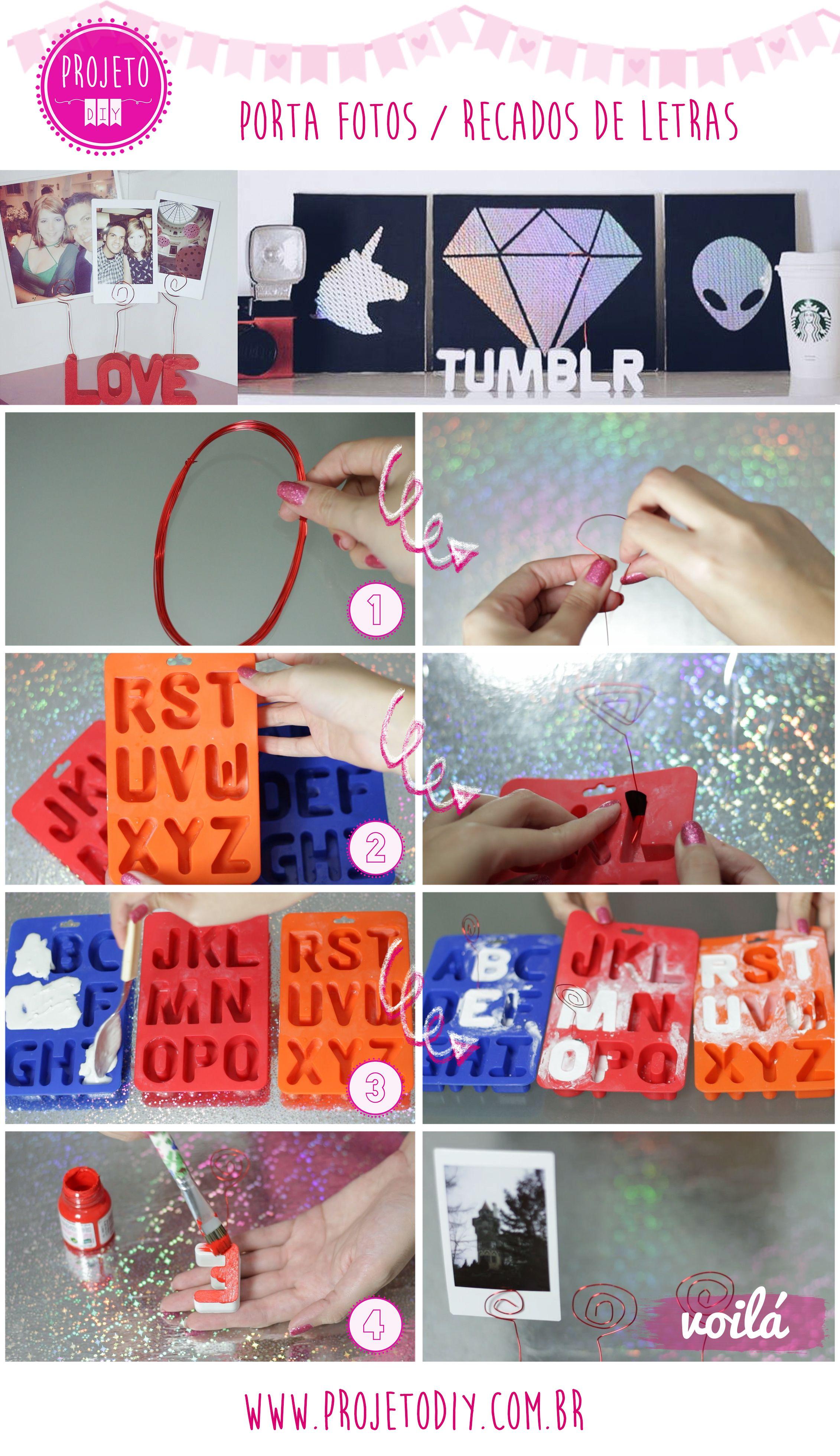 Como Fazer Letras De Cimento Branco Porta Fotos Recados Stabilo Boss Pink Set 10 Shrink