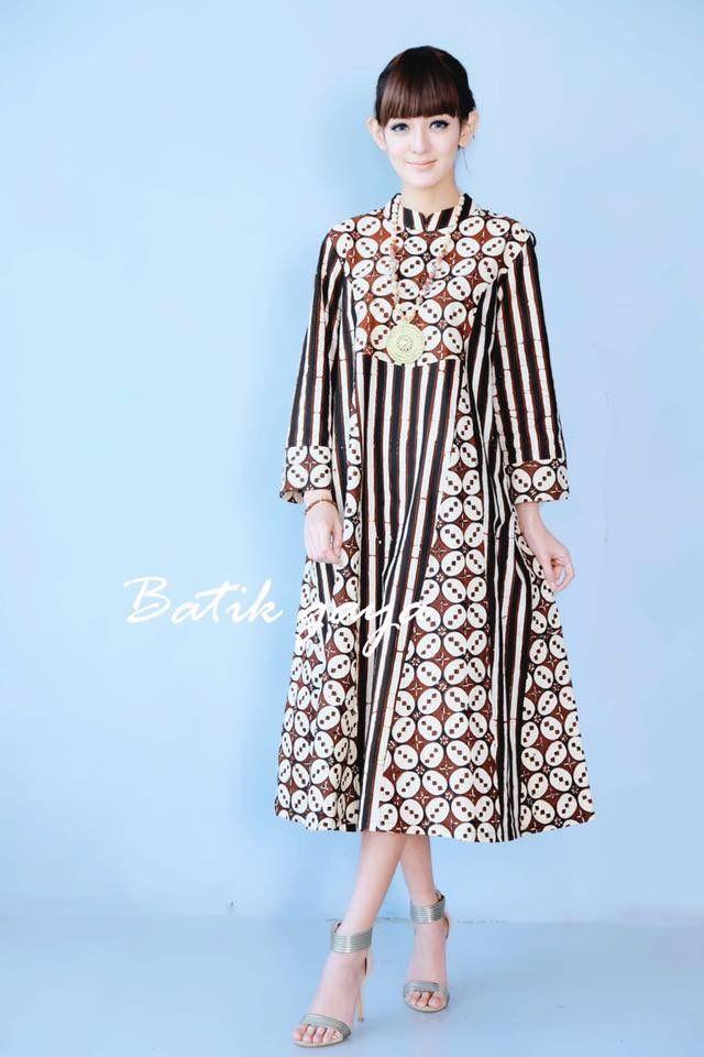 Batik Dresss Gaun Model Baju Wanita Gaun Dan Gaya Busana