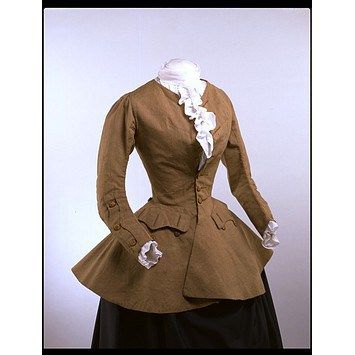 Women's riding Coat, 1750-59. Image V&A museum