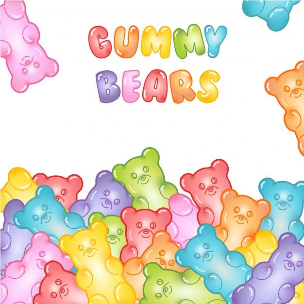 Gummy Bears Background Gummy Bears Gummies Illustration Journal